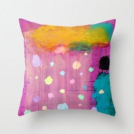 Cotton Candy Conundrum Throw Pillow