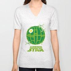 Green Star Unisex V-Neck
