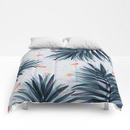 Unique Delicate Tropical Leaves Pattern Comforters