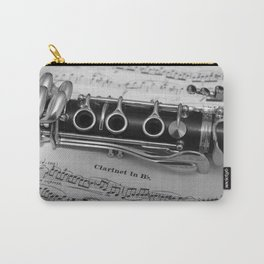 B Flat Clarinet in Black & White Carry-All Pouch