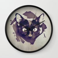 jojo Wall Clocks featuring JOJO by SensualPatterns