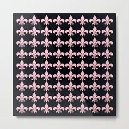 Fleur de lis Pink Metal Print