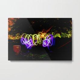 Night Air Graffiti Metal Print