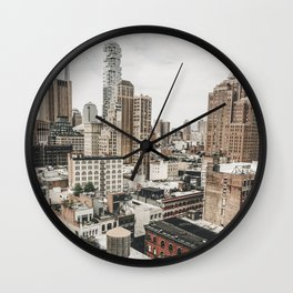 New York City View Wall Clock