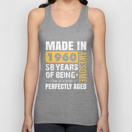 Made in 1960 - Perfectly aged Unisex Tank Top