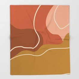 Abstract Organic Shapes in Zen Desert Color  Throw Blanket
