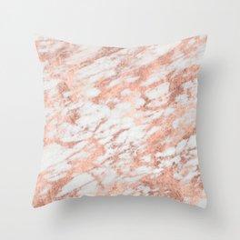 Blush Gold Quartz Throw Pillow