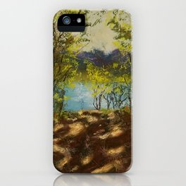 Chickies Rock Overlook Soft Pastel Painting iPhone Case