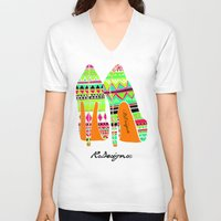 heels V-neck T-shirts featuring Aztec - Heels by RsDesigns