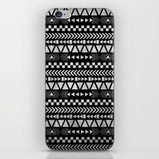 Tribal Print in Black and White iPhone & iPod Skin