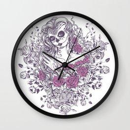 Sexy Woman zombie WITH Flower - KOBI Wall Clock