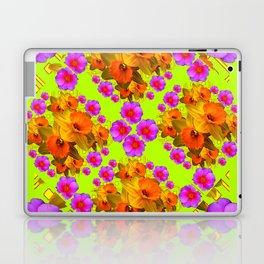 Chartreuse Color Golden Daffodil Rose Art Laptop & iPad Skin
