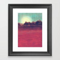 Distant Mountains Framed Art Print
