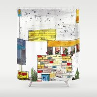 urban Shower Curtains featuring Urban by Tonya Doughty