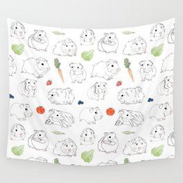 Guinea Pigs and Vegetables Wall Tapestry