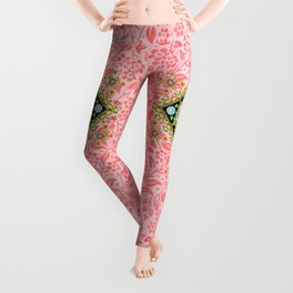 Pink Pansy Cottage Leggings