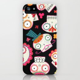 Sugar Skulls and Flowers iPhone Case