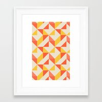 geo Framed Art Prints featuring Geo by Aneela Rashid