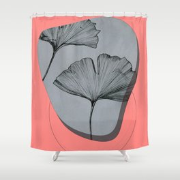 ginko biloba leave Shower Curtain