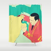 circus Shower Curtains featuring Circus by ministryofpixel