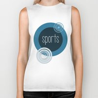sports Biker Tanks featuring SPORTS by VIAINA DESIGN