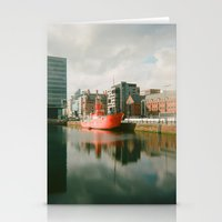 liverpool Stationery Cards featuring Dock - Liverpool by Ela Myller