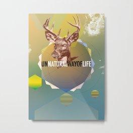 Un Natural Metal Print