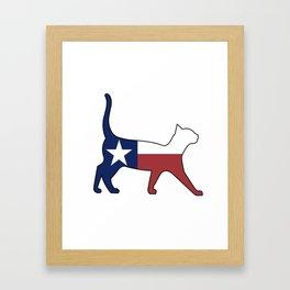 State of Texas Flag for Cat Lovers Framed Art Print