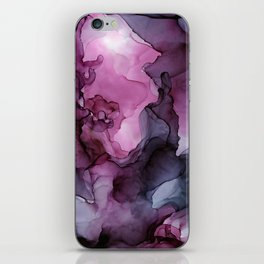 Abstract Ink Painting Ethereal Flowing Watercolor Nebula iPhone Skin