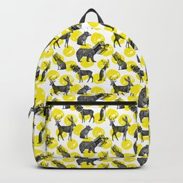 half animals pattern Backpack
