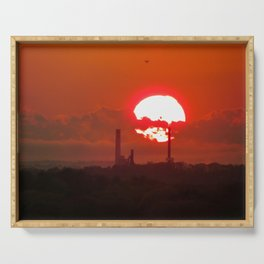 Fiery May Sunset Serving Tray