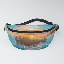 River sunset Fanny Pack