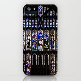 Stained Glass Window Shakespeare's Church Stratford upon Avon England iPhone Case