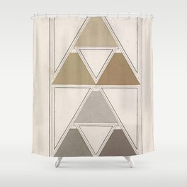 Antique Color Theory Shower Curtain