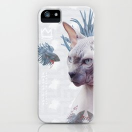 Smells Like Spring tattooed cat iPhone Case