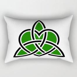Celtic Valknut Trinity Knot With Interwoven Heart Rectangular Pillow