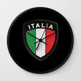 italia hemblem Wall Clock