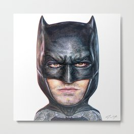 Bat Bobble Metal Print