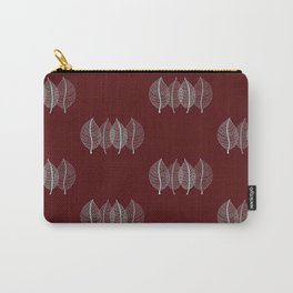 Red Leaf Pattern Carry-All Pouch
