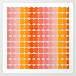 Strawberry Dots Art Print