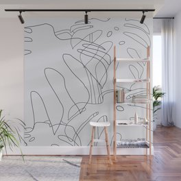 Monstera Illustration Wall Mural
