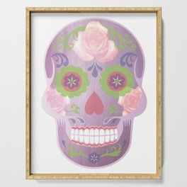 Purple Sugar Skull Serving Tray