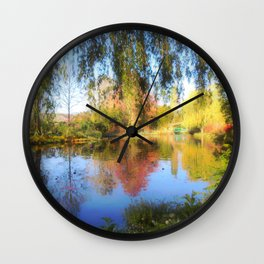 Dreamy Water Garden Wall Clock