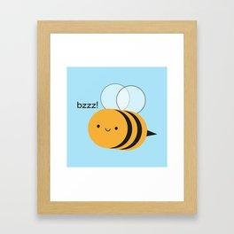 Kawaii Buzzy Bumble Bee Framed Art Print