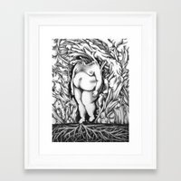 in the flesh Framed Art Prints featuring Flesh by Rachel De Urioste