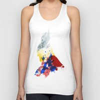 nordic Tank Tops featuring Nordic Star by Arian Noveir