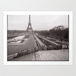 The Long March (Paris, France) ©2007 John D. Elliott  Art Print