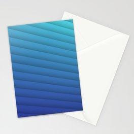 Aqua Feather Stationery Cards