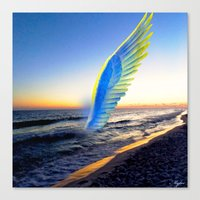angel Canvas Prints featuring Angel  by Saundra Myles