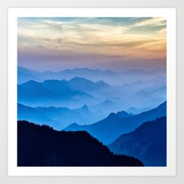 Mountains 11 Art Print